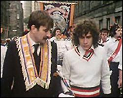 Sectarian street parties