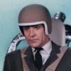 He's wearing a helmet - what a wuss