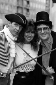 Forget BBC newsreaders dressed as gays and prostitutes - how about a spoof version of Poldark starring Simon Bates and Linda Lusardi?
