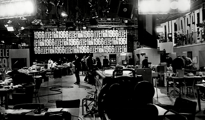 BBC election night studio, March 1966