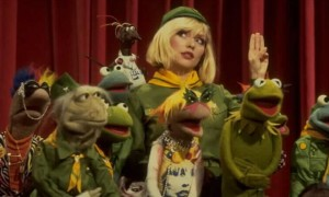 The best bit of every show: a million Muppets gather round celebrity from out of nowhere and bob their heads from side to side in time with the music