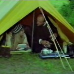 Tent erected