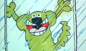 A spot of precipitation whips Roobarb into a state of atypical arousal