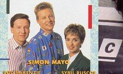 Simon Mayo, flanked by late eighties 'Breakfast Crew', of Getting The Herbs Released On Video fame