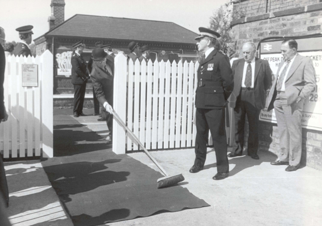 """Hazel Grove station gets a last-minute sweep ahead of a """"right royal"""" visitation"""