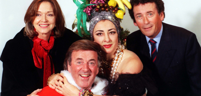 Wogan's Christmas crackers. Or should that be Wogan's Christmas? Crackers!